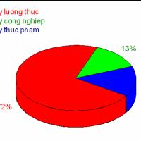 Hướng dẫn vẽ biểu đồ Tròn (địa lý)