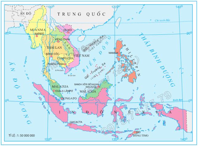 Hinh 2. Các nước Đông Nam Á