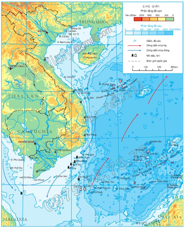 Hinh 8.1. Vùng biển Việt Nam trong Biển Đông