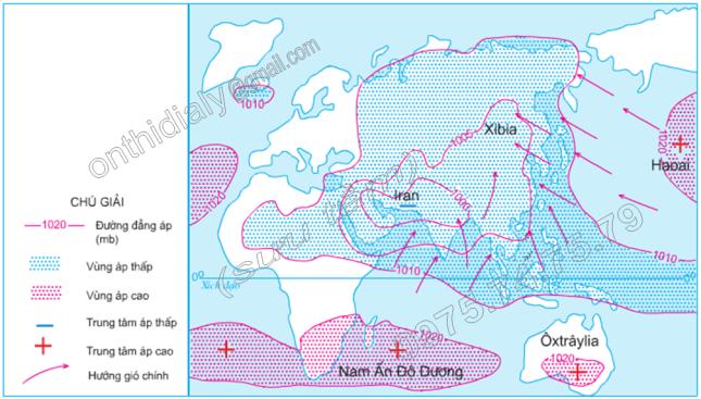 Hinh 9.2. Gió mùa mùa hạ ở khu vực Đông Nam Á