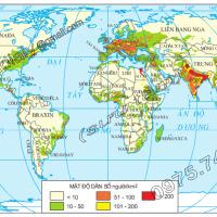 Bài 25. Thực hành: Phân tích bản đồ phân bố dân cư thế giới (Địa lý 10)