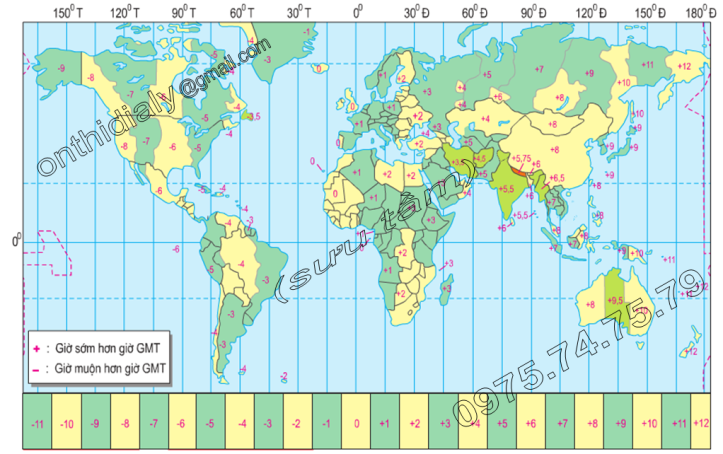 Hinh 5.3. Các múi giờ trên Trái Đất