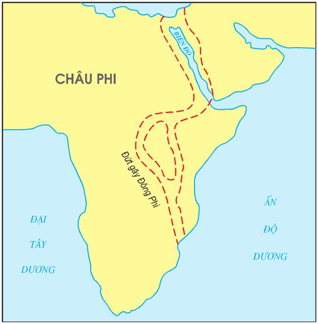 Hinh 8.4. Đứt gãy Đông Phi và Biển Đỏ