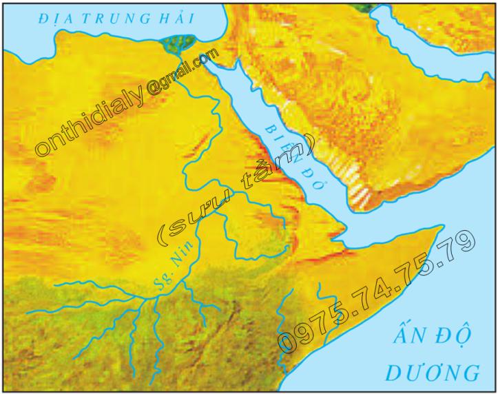 Hinh 8.5. Biển Đỏ-địa hào bị ngập nước