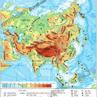Bài 1. Vị trí địa lí, địa hình và khoáng sản châu Á (Địa lý 8)