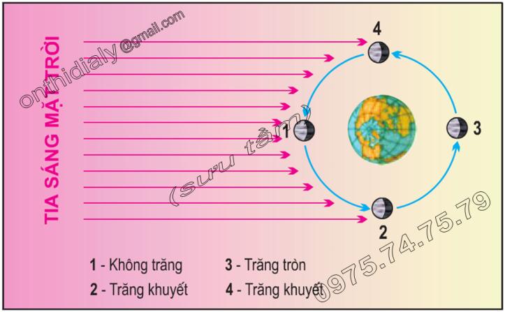 Hinh 16.1. Chu kì tuần trăng