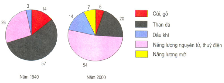 Hinh 32.6. Cơ cấu sử dụng năng lượng trên thế giới (%)