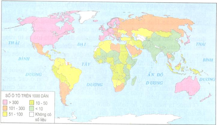 Hinh 37.2. Số ôtô bình quân trên 1000 dân, năm 2001