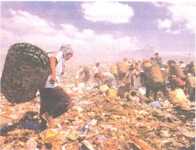 Hinh 42. Bãi rác ở Ma-ni-la (Philippin)