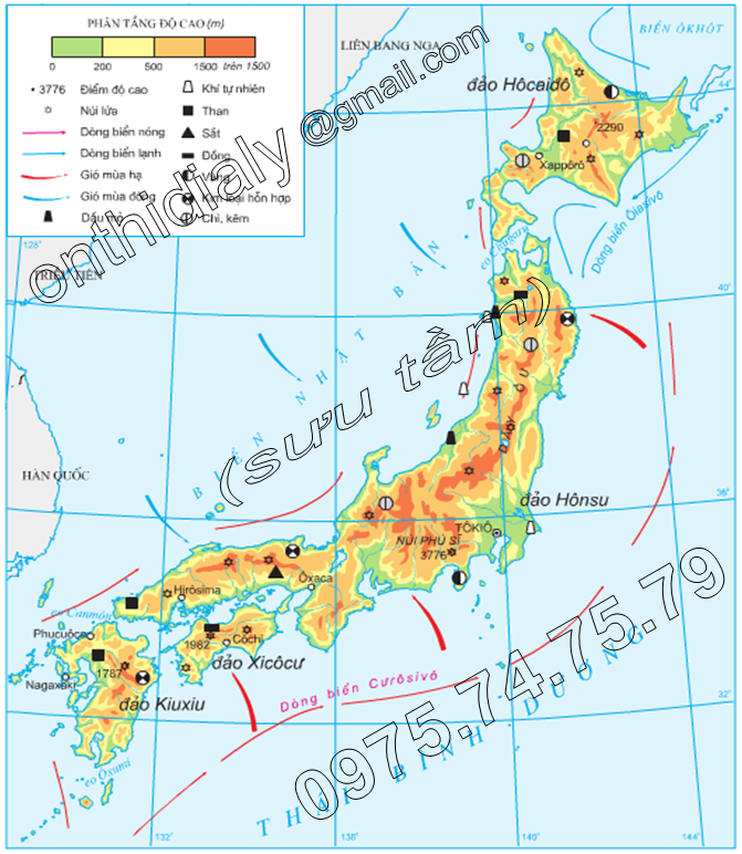 Hinh 9.2. Tự nhiên Nhật Bản