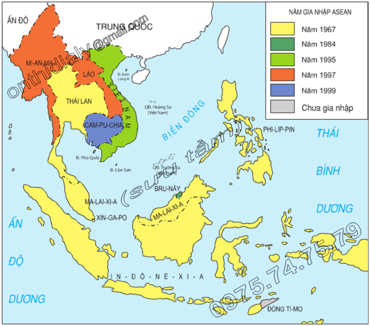 Hinh 17.1. Lược đồ các nước thành viên ASEAN