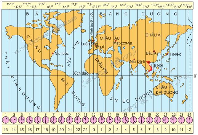Hinh 20. Các khu vực giờ trên Trái Đất