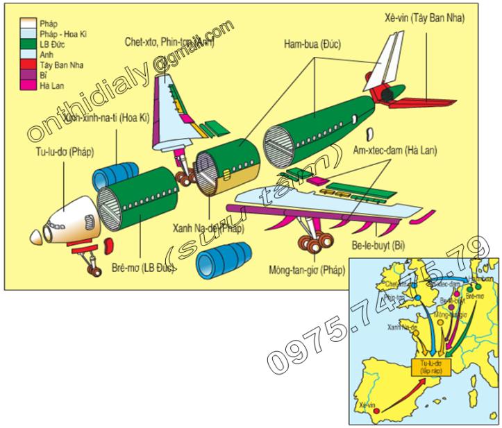 Hinh 55.3. Hợp tác sản xuất máy bay E-bớt