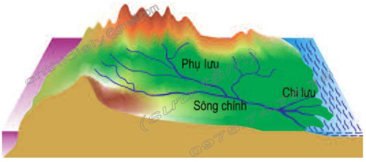 Hinh 59. Hệ thống sông và lưu vực sông
