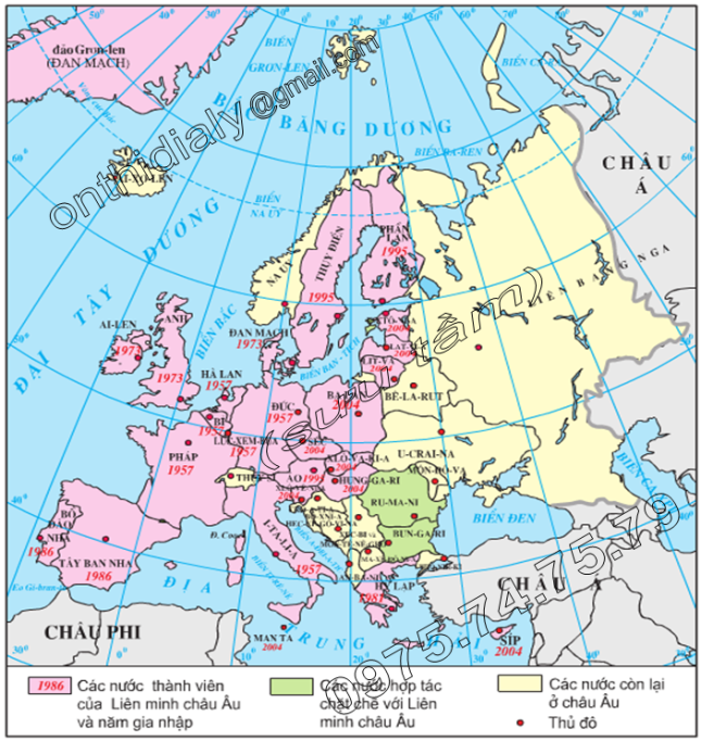 Hinh 60.1. Quá trình mở rộng Liên minh châu Âu đến năm 2004