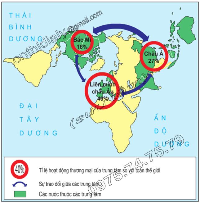 Hinh 60.3. Các trung tâm thương mại lớn trên thế giới