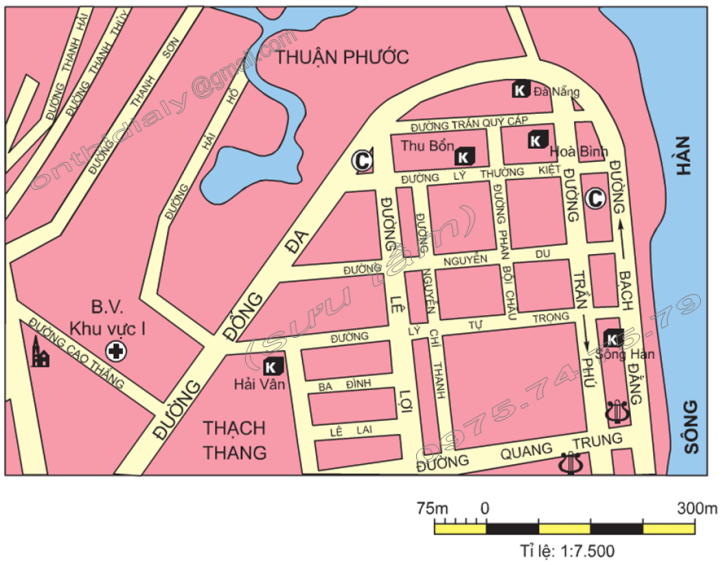 Hinh 8. Bản đồ một số khu vực của thành phố Đà Nẵng (tỉ lệ 1 7.500)