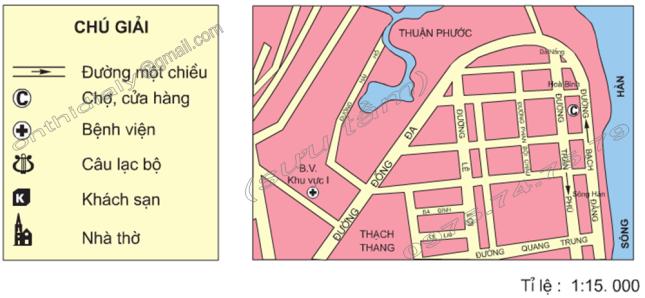 Hinh 9. Bản đồ một số khu vực của thành phố Đà Nẵng (tỉ lệ 1 15.000)