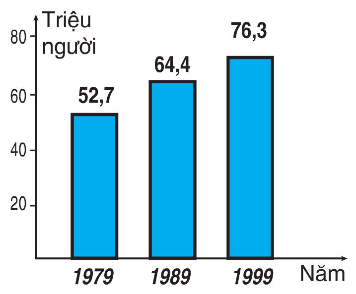 Biểu đồ dân số Việt Nam qua các năm