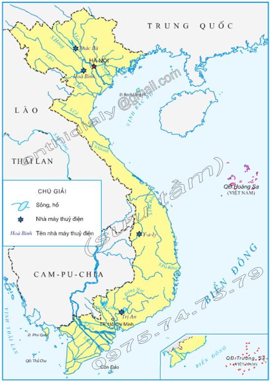 Hinh 1. Lược đồ sông ngòi Việt Nam