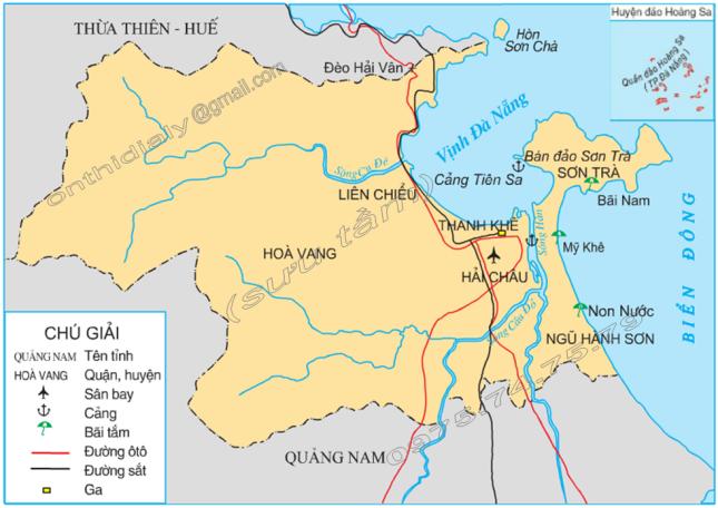 Hinh 1. Lược đồ thành phố Đà Nẵng