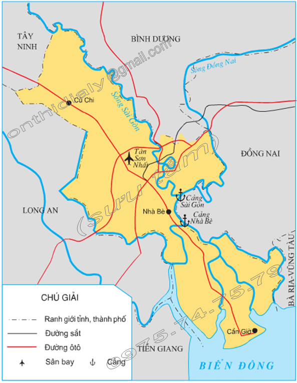 Hinh 1. Lược đồ Thành phố Hồ Chí Minh