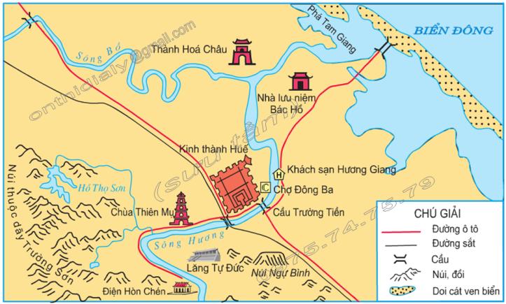 Hinh 1. Lược đồ thành phố Huế