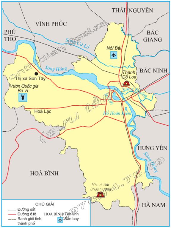 Hinh 1. Lược đồ Thủ đô Hà Nội