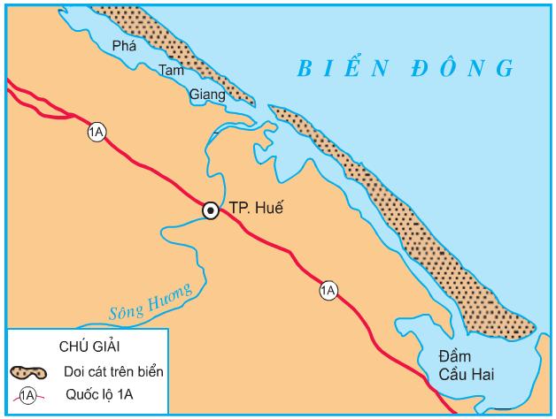 Hinh 2. Lược đồ đầm, phá ở Thừa Thiên-Huế