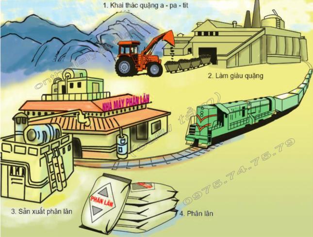 Hinh 3. Quy trình sản xuất phân lân