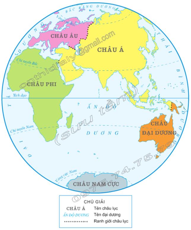 Hinh 2. Bán cầu Đông