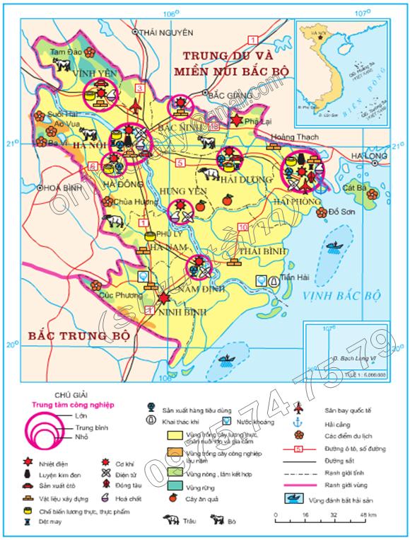 Hinh 33.3. Kinh tế Đồng bằng sông Hồng