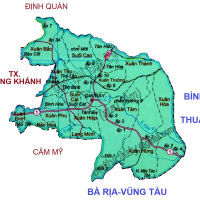 Bản đồ các huyện, thị của tỉnh Đồng Nai