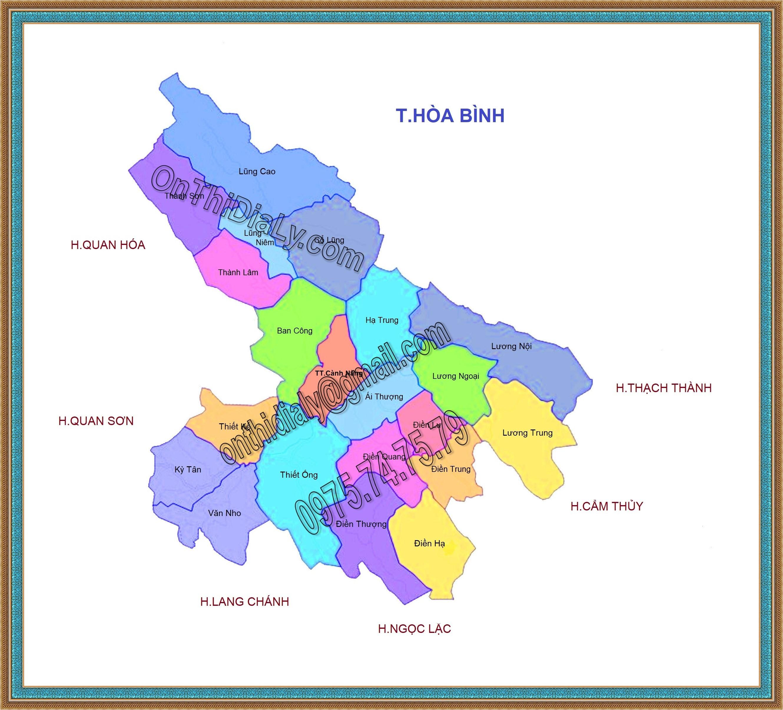 Bản đồ huyện Bá Thước, tỉnh Thanh Hóa