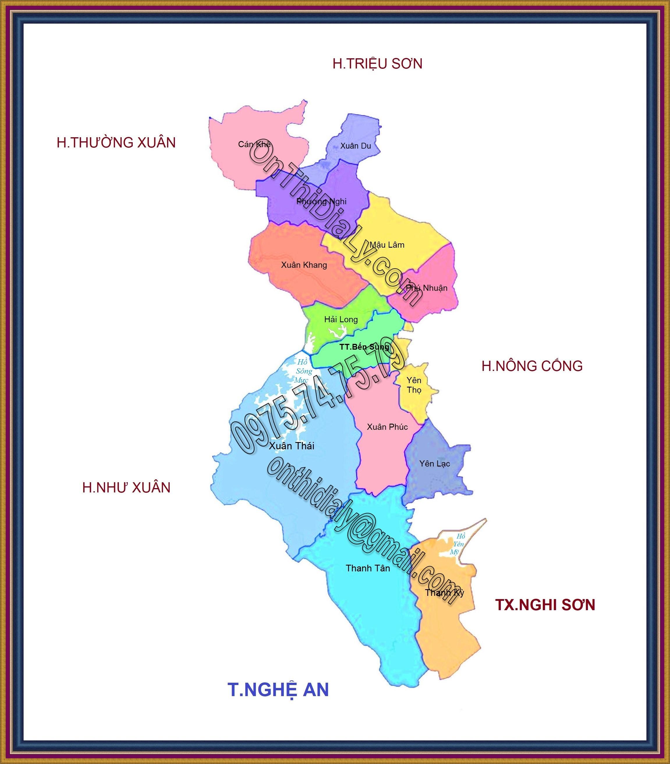 Bản đồ huyện Như Thanh, tỉnh Thanh Hóa
