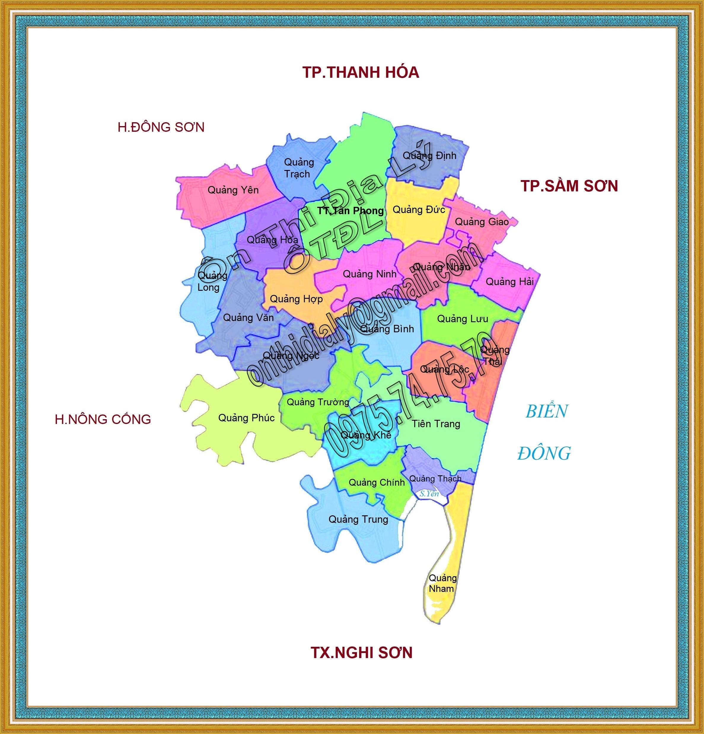 Bản đồ huyện Quảng Xương, tỉnh Thanh Hóa