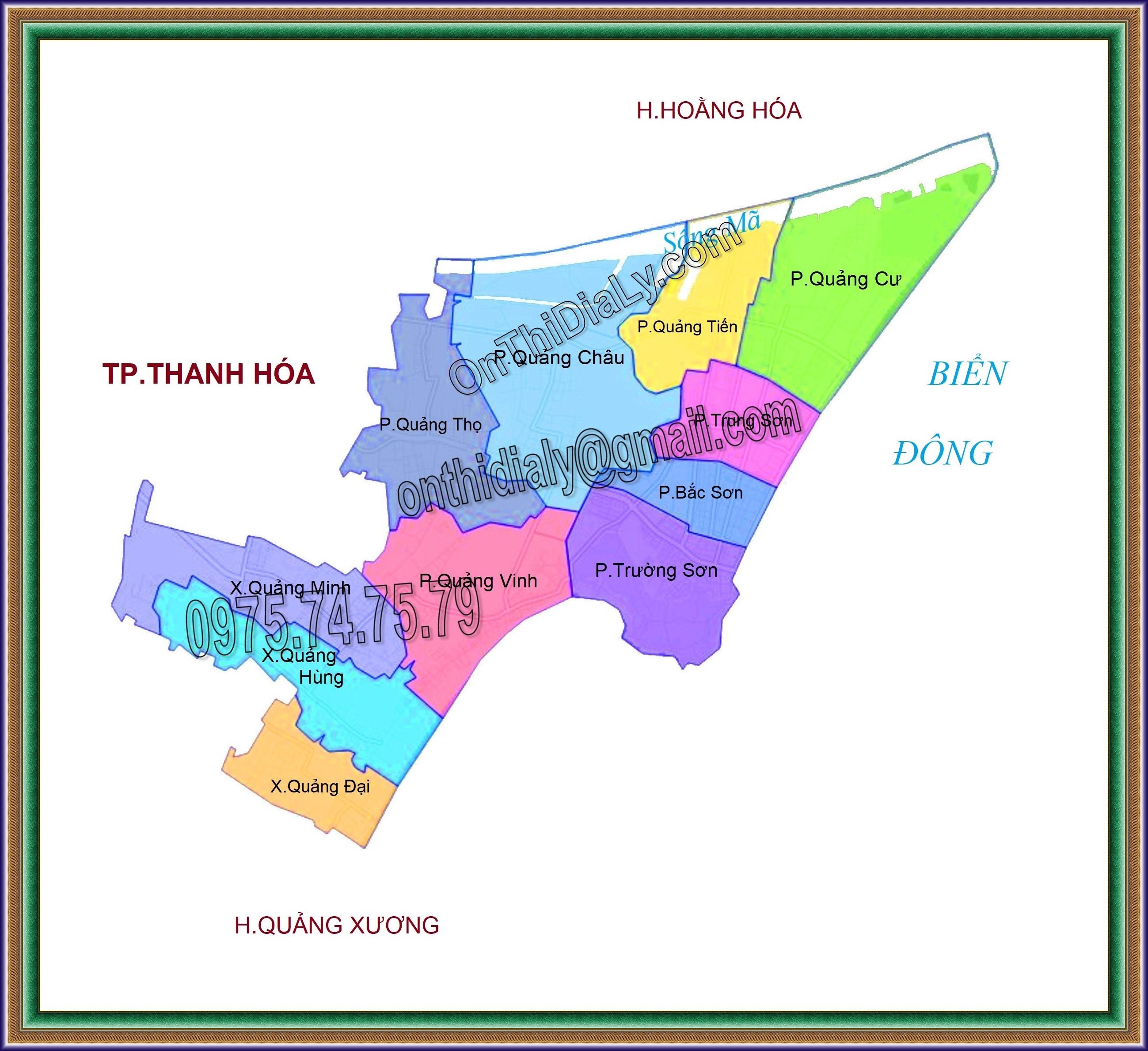 Bản đồ Thành phố Sầm Sơn, tỉnh Thanh Hóa