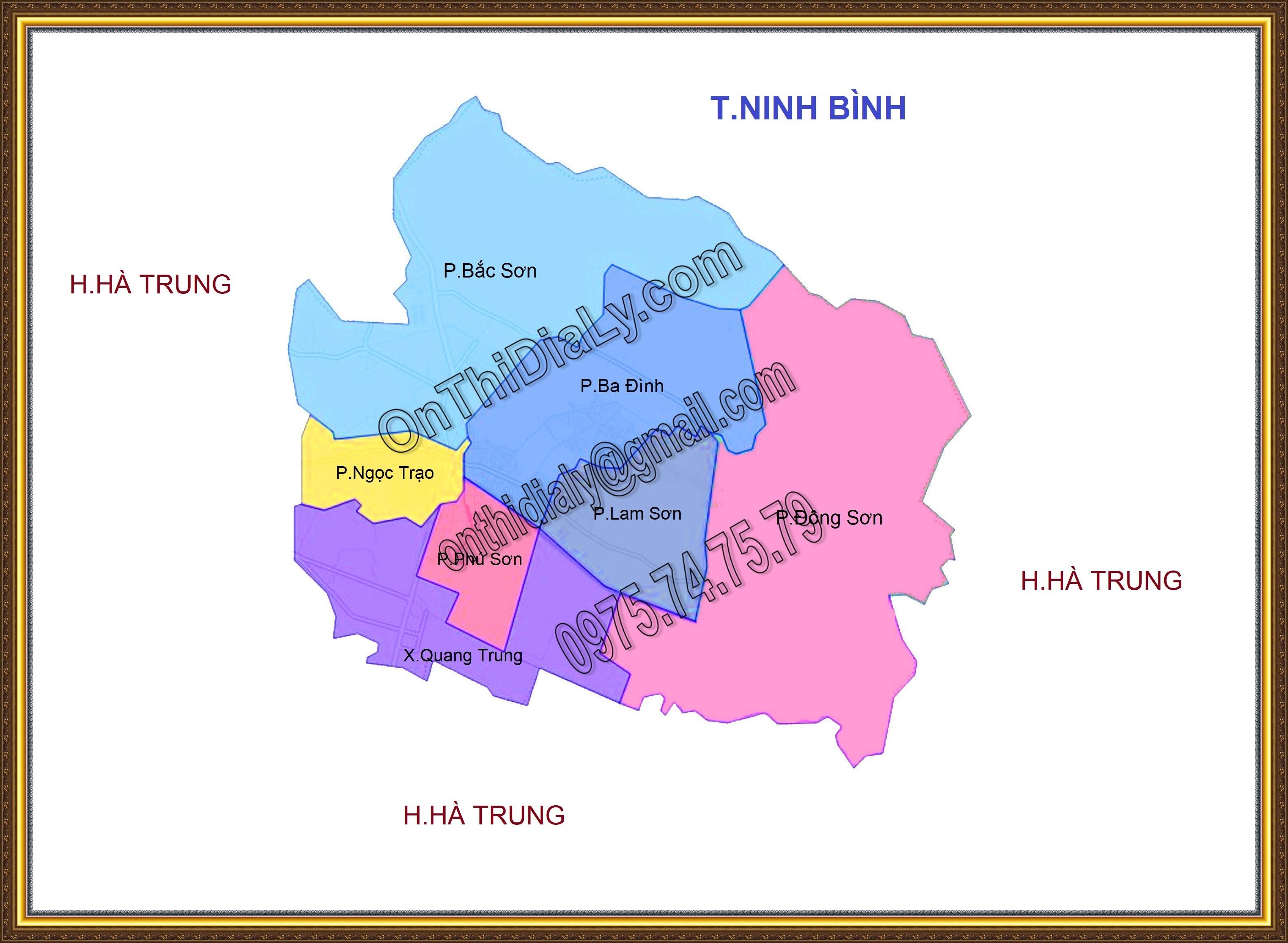 Bản đồ Thị xã Bỉm Sơn, tỉnh Thanh Hóa