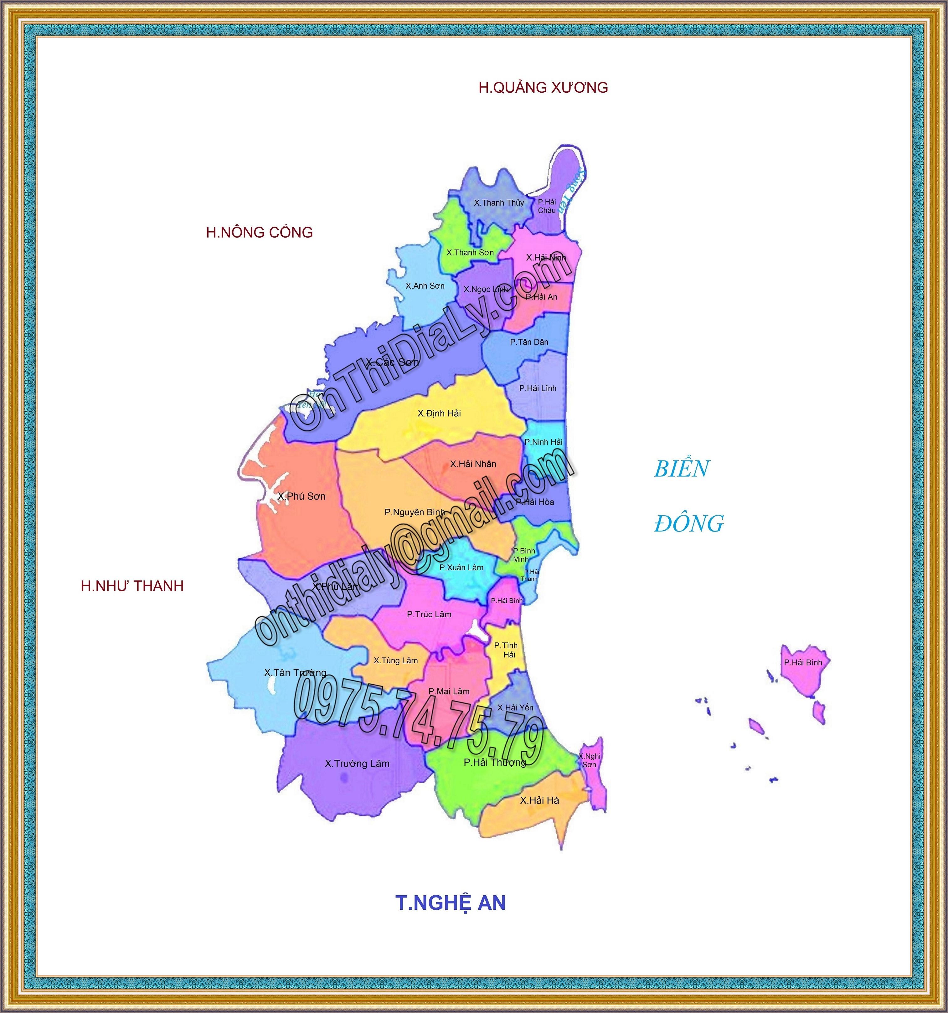 Bản đồ Thị xã Nghi Sơn, tỉnh Thanh Hóa