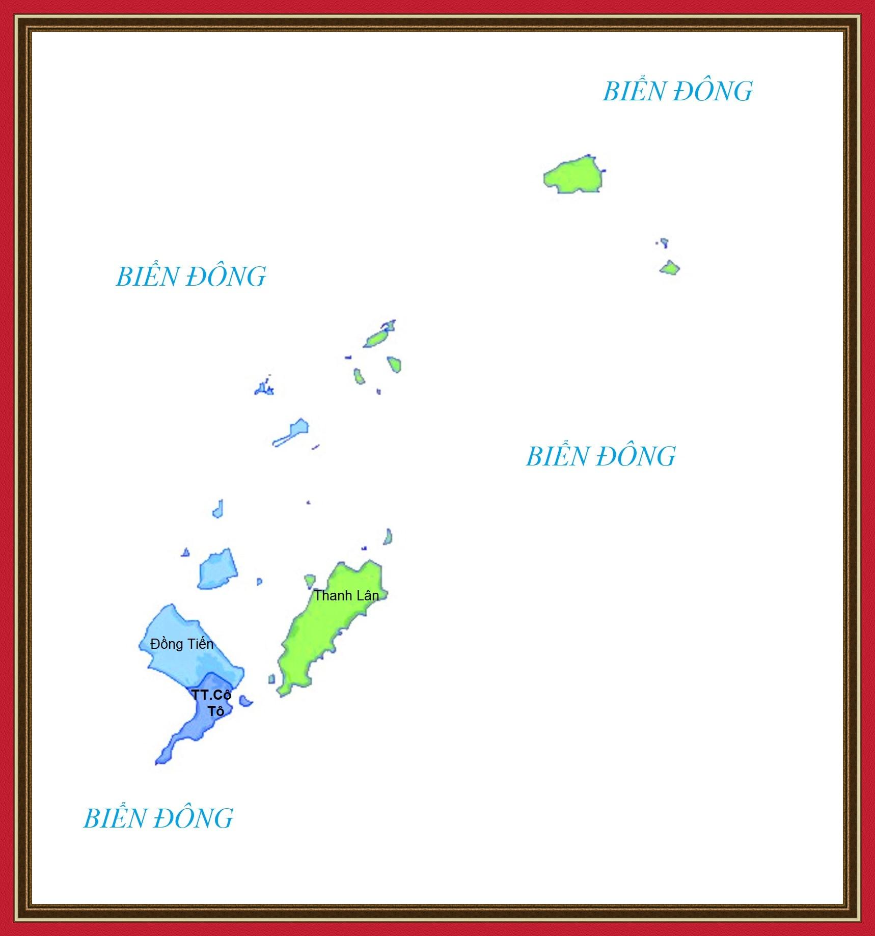 Bản đồ huyện Cô Tô, tỉnh Quảng Ninh