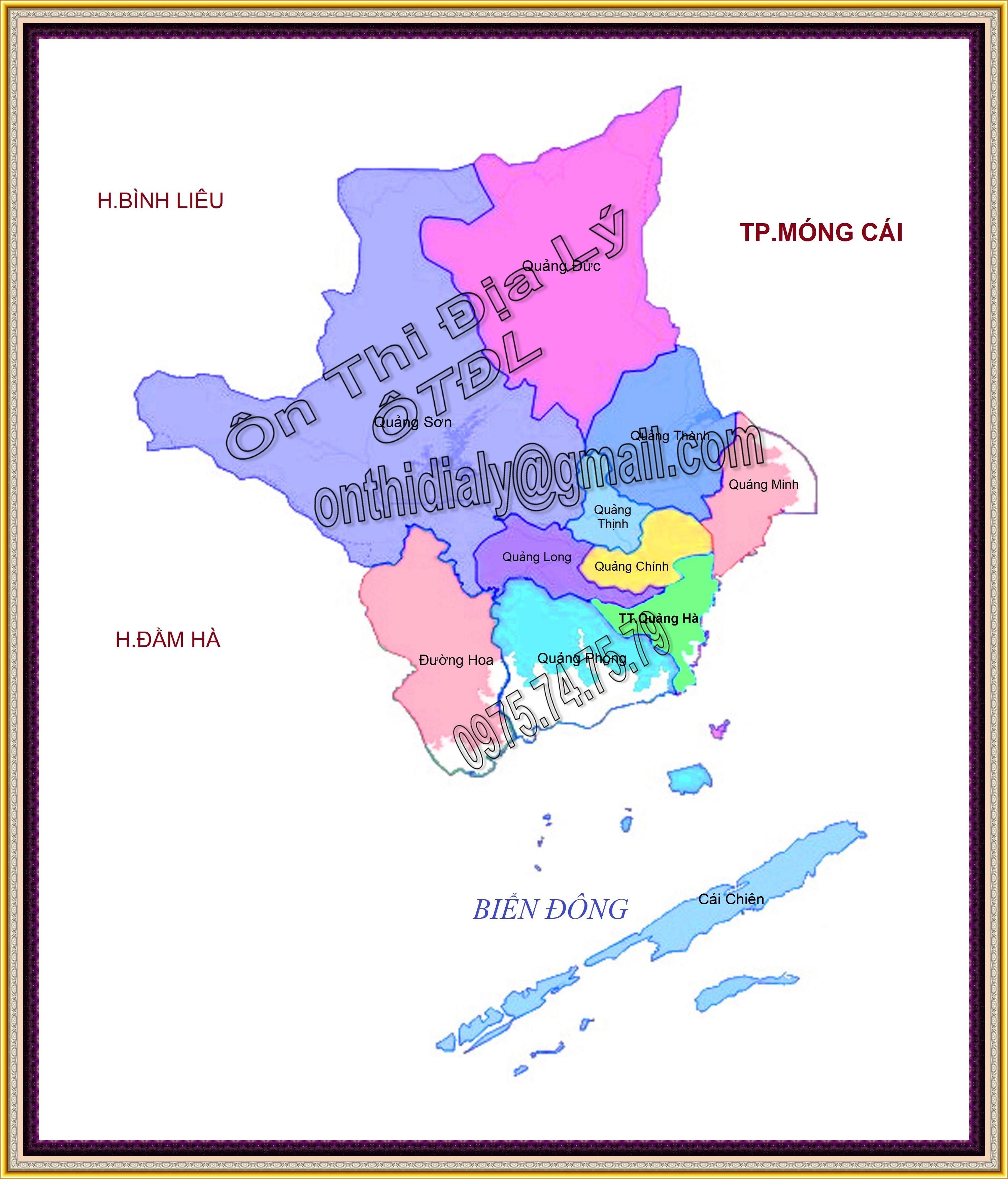 Bản đồ huyện Hải Hà, tỉnh Quảng Ninh