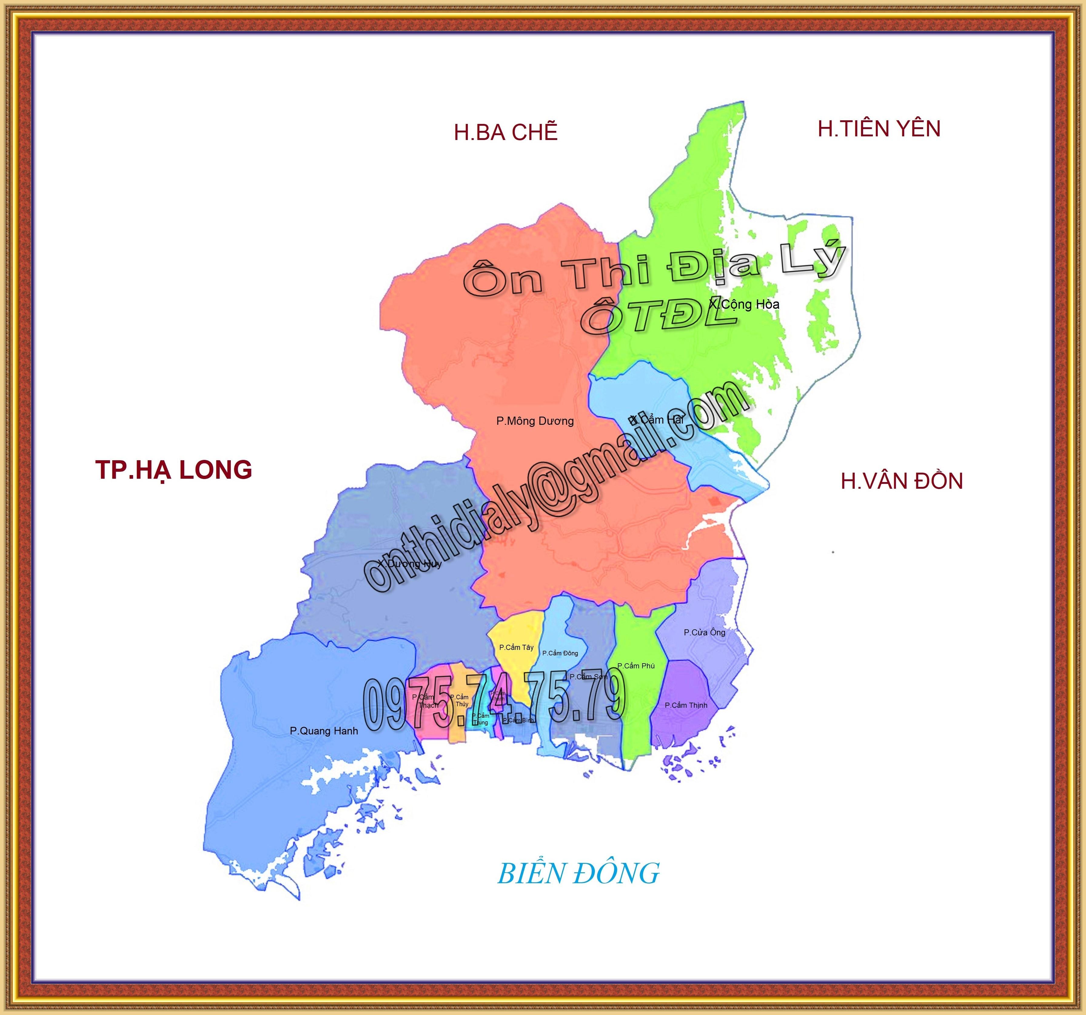 Bản đồ Thành phố Cẩm Phả, tỉnh Quảng Ninh