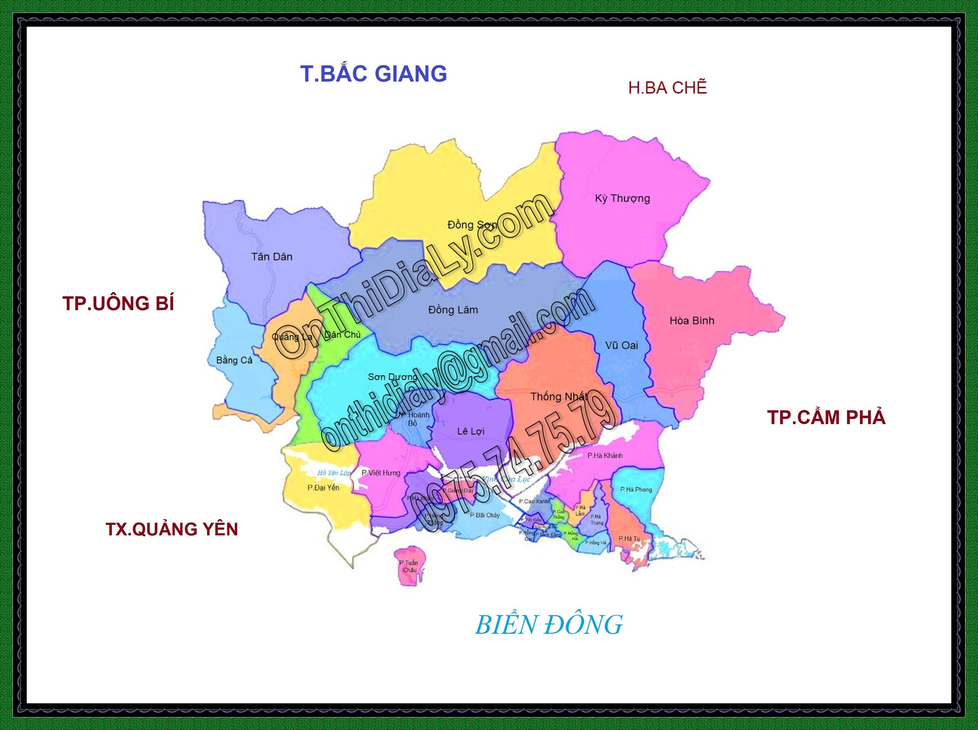 Bản đồ Thành phố Hạ Long, tỉnh Quảng Ninh