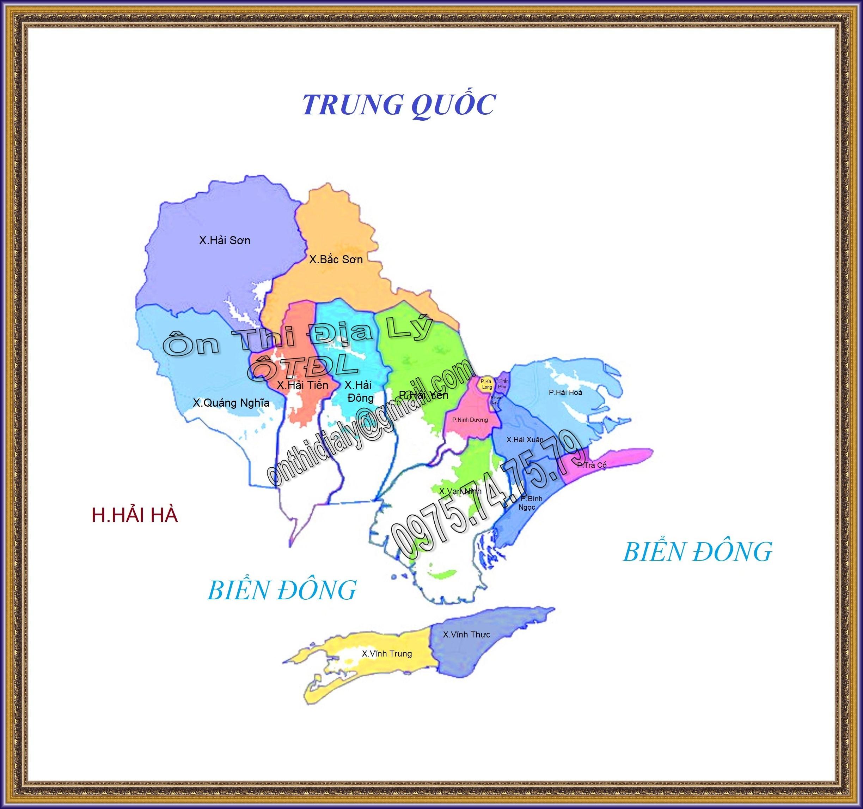 Bản đồ Thành phố Móng Cái, tỉnh Quảng Ninh