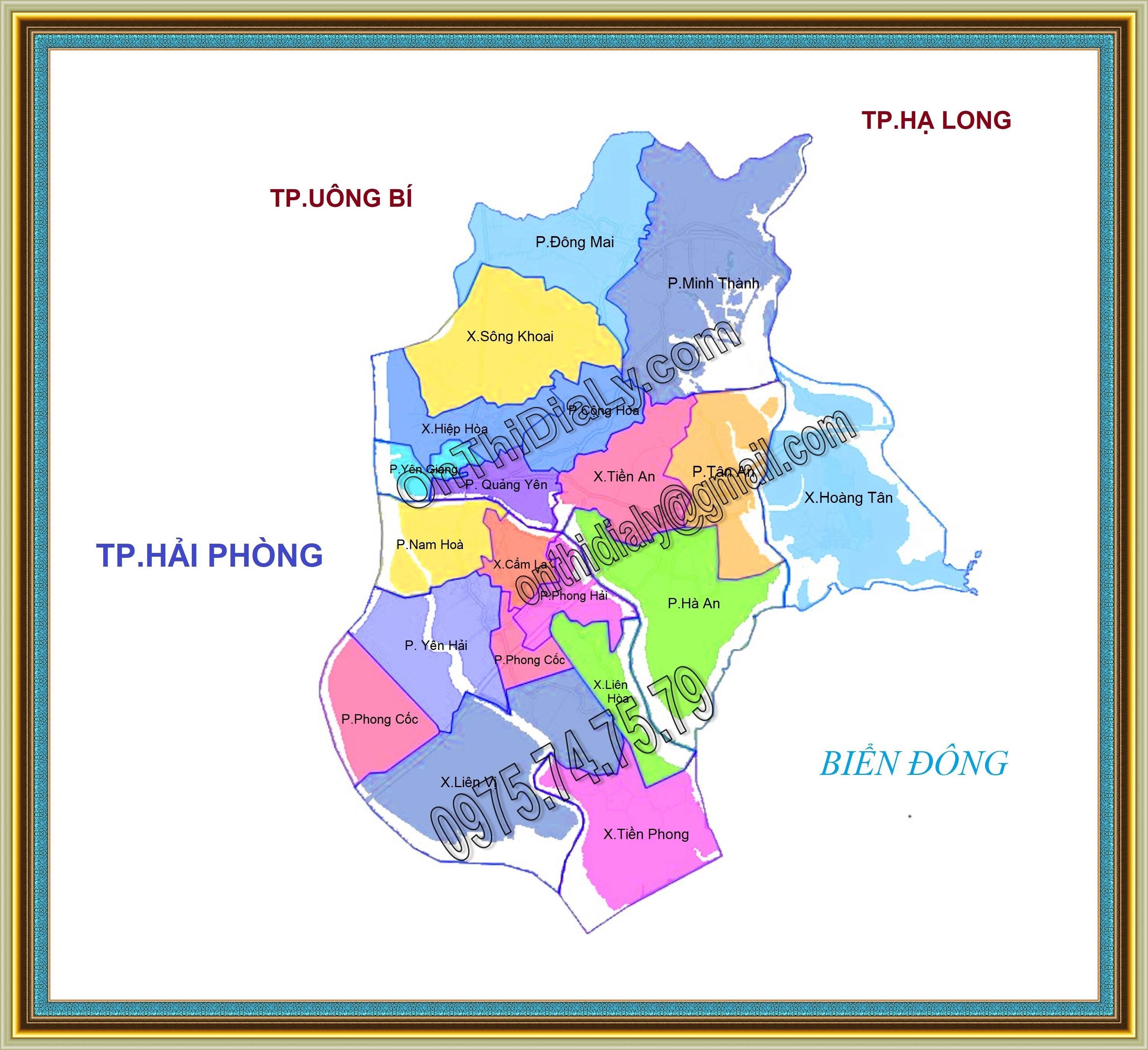Bản đồ Thị xã Quảng Yên, tỉnh Quảng Ninh