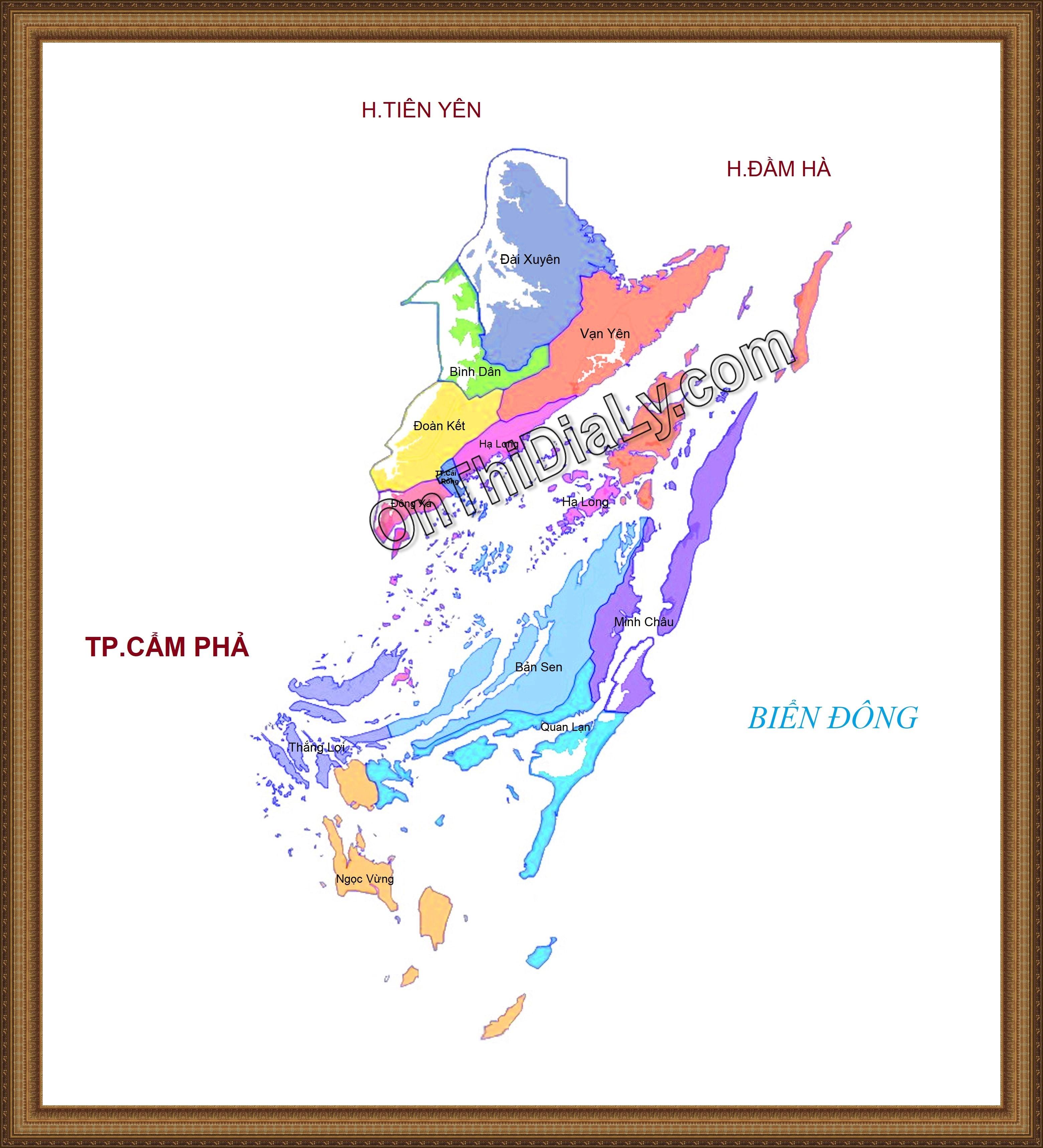 Bản đồ huyện Vân Đồn, tỉnh Quảng Ninh